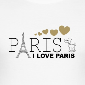 I LOVE PARIS - Herre Slim Fit T-Shirt