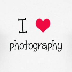 I love photography - Camiseta ajustada hombre