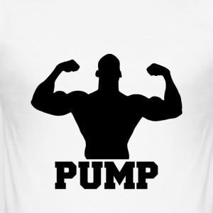 Pumpa upp det - Slim Fit T-shirt herr