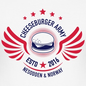 Cheeseburger Army U.S Colors - Slim Fit T-skjorte for menn