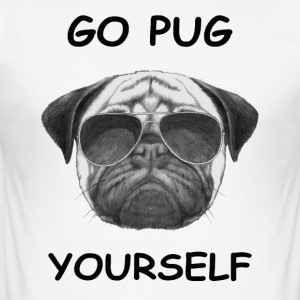 go pug yourself black - Men's Slim Fit T-Shirt