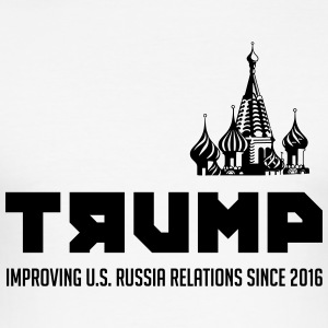 Trump: Improving US. Russia relations since 2016 - Men's Slim Fit T-Shirt