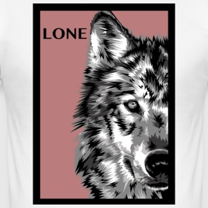 lone_wolf_rose - Herre Slim Fit T-Shirt