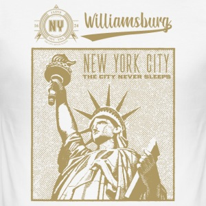 New York City · Williamsburg - Männer Slim Fit T-Shirt