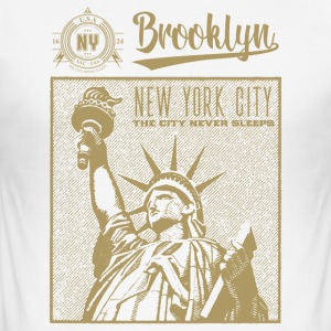 New York · Brooklyn - Herre Slim Fit T-Shirt