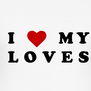 I love my loves! - Slim Fit T-shirt herr