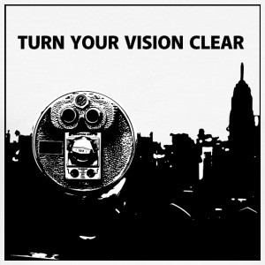 TURN YOUR VISION CLEAR - Männer Slim Fit T-Shirt