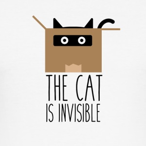 The cat is invisibile - Maglietta aderente da uomo