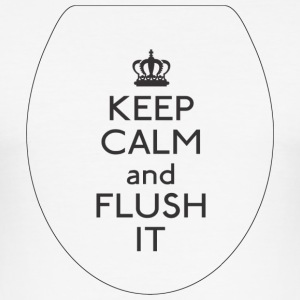 FLUSH Keep Calm - Herre Slim Fit T-Shirt