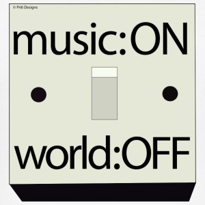 Musik på: World Off - Herre Slim Fit T-Shirt