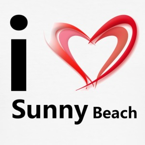I love Sunny Beach (black print) - slim fit T-shirt