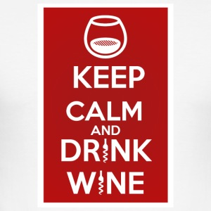 Keep Calm and DRINK WINE - Tee shirt près du corps Homme