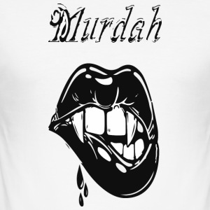 murdah - Slim Fit T-shirt herr