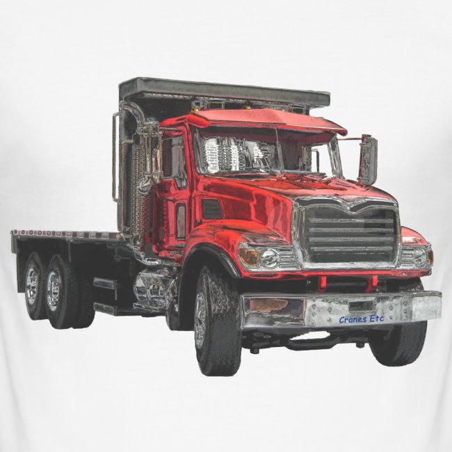 Flat Truck 3-axle - Red