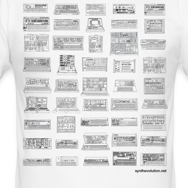 Synth Evolution T-shirt - White