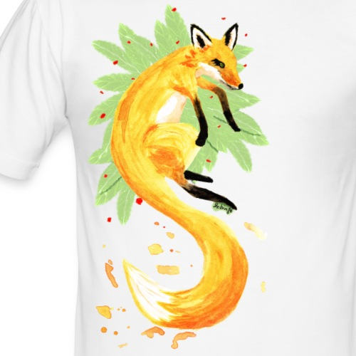 Spring of Fox - Männer Slim Fit T-Shirt