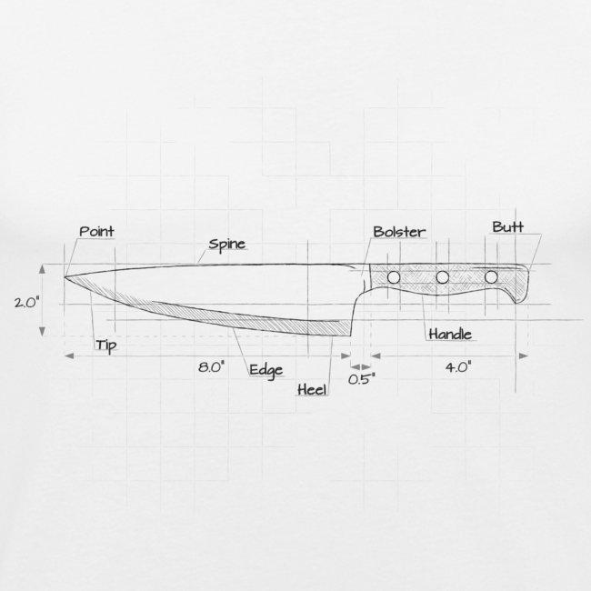 Cooks Knife Diagram