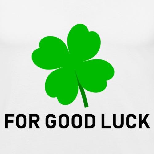 Voor goed geluk (wit) - Mannen slim fit T-shirt