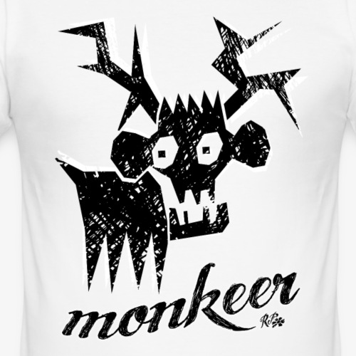 redFlower monkeer png - Männer Slim Fit T-Shirt