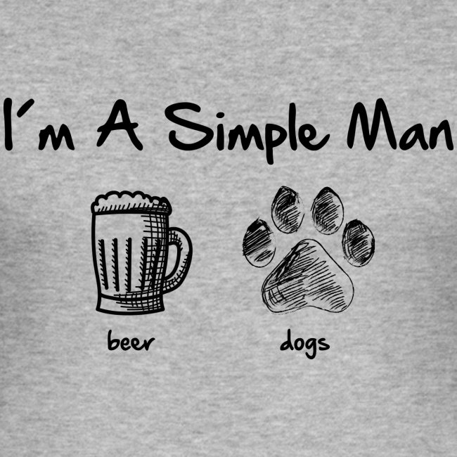 Vorschau: simple man dogs beer - Männer Slim Fit T-Shirt
