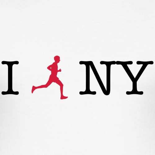 I lauf New York 01 - Männer Slim Fit T-Shirt