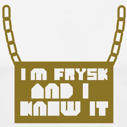 I'm Frysk and i know it - Mannen slim fit T-shirt
