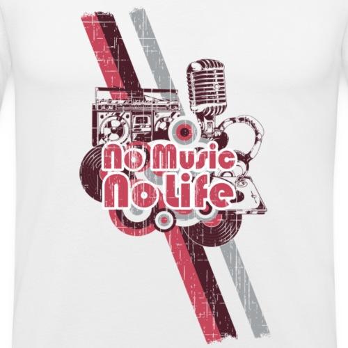 Music is my life! - Männer Slim Fit T-Shirt