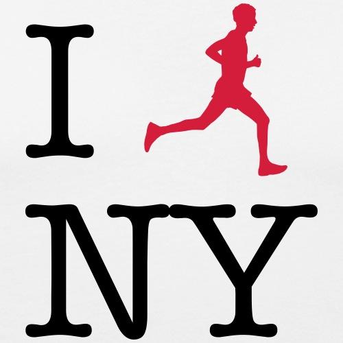 I lauf New York 02 - Männer Slim Fit T-Shirt