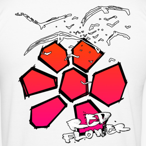 redFlower crows png - Männer Slim Fit T-Shirt