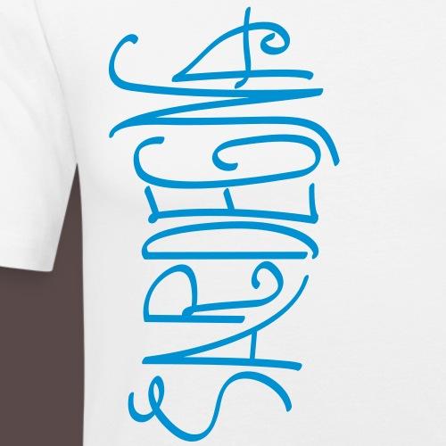 Sardegna Calligrafica v2 - Maglietta aderente da uomo
