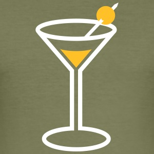 Martini Cocktailglas - slim fit T-shirt