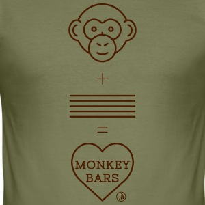 Affe Bars - Männer Slim Fit T-Shirt