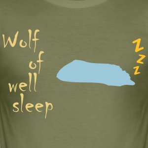 Wolf of (wall st) well sleep - Männer Slim Fit T-Shirt