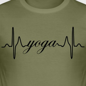 Yoga heartbeat ECG - Men's Slim Fit T-Shirt