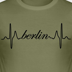 Berlin hjerterytme EKG - Slim Fit T-skjorte for menn