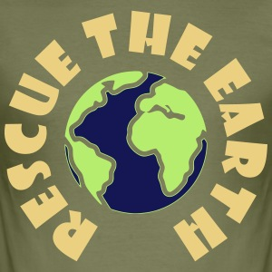 Protects the Earth - Men's Slim Fit T-Shirt