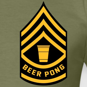 Beer Pong Army Patch - Men's Slim Fit T-Shirt