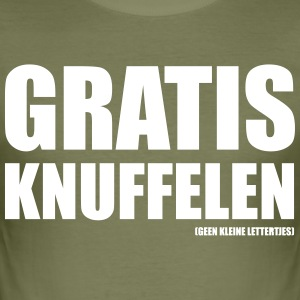Gratis knuffelen - slim fit T-shirt