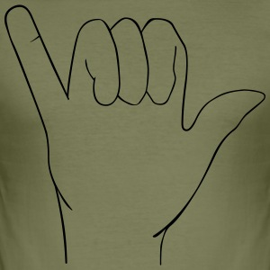 Hand sign - Men's Slim Fit T-Shirt