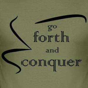 Forth and Conquer zwart - slim fit T-shirt