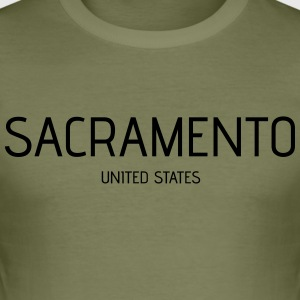 Sacramento - Männer Slim Fit T-Shirt