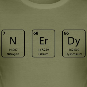 Nerdy periodic table element - Men's Slim Fit T-Shirt