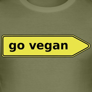 gå veganer - Register - Herre Slim Fit T-Shirt