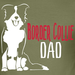 Border Collie Dad - Slim Fit T-shirt herr