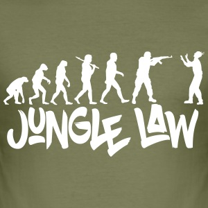 JUNGLE_LAW - Slim Fit T-skjorte for menn