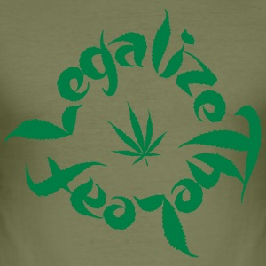 legalisera - Slim Fit T-shirt herr