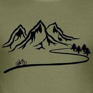 Mountainbike Trail - Männer Slim Fit T-Shirt