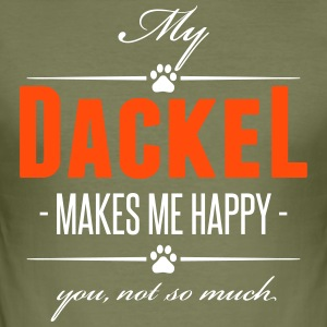My Dackel makes me happy - Männer Slim Fit T-Shirt