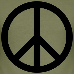 Peace Sign Fylld Black - Slim Fit T-shirt herr