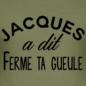 Jacques kjeft - Slim Fit T-skjorte for menn